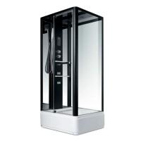 Гидробокс Miracle NA114-3A, профиль черный, стекло прозрачное, задняя стенка и крыша зеркальные, 80х100х215 см