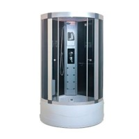 Гидробокс Miracle F7-5 с электроникой, профиль сатин, стекло серое, 100х100х205 см