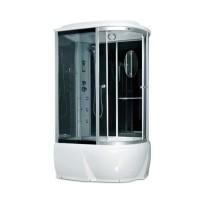 Гидробокс Miracle F76-3W L с электроникой (сенсор), профиль сатин, стекло серое, 120х85х215 см
