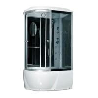 Гидробокс Miracle F76-3W R с электроникой (сенсор), профиль сатин, стекло серое, 120х85х215 см
