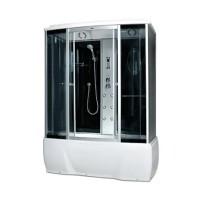 Гидробокс Miracle F77-3Wс электроникой (сенсор), профиль сатин, стекло серое, 150х85х215 см