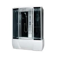 Гидробокс Miracle F78-3W с электроникой (сенсор), профиль сатин, стекло серое, 170х85х215 см