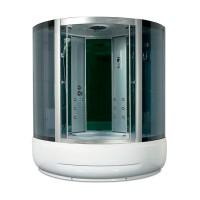 Гидробокс Miracle F40-3 с электроникой, профиль сатин, стекло серое, 135х135х215 см