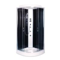 Гидробокс Sansa SK-101/15, рама сатин, стекло серое/черное 4 мм, 100x100x215 см