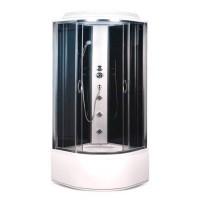 Гидробокс Sansa SK-909/40, профиль сатин, стекло 4 мм серое/черное, 90x90x215 см