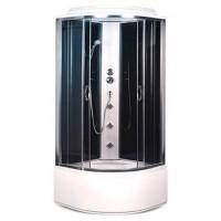 Гидробокс Sansa SK-101/40, профиль сатин, стекло 4 мм серое/черное, 100x100x215 см