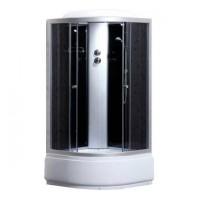 Гидробокс Sansa 9900A, профиль сатин, стекло серое, 80x80(40)x215 см