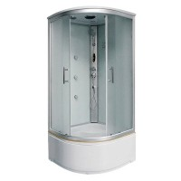 Гидробокс Fabio FS-260/45 с электроникой профиль сатин, стекло фабрик, 90x90x220 см
