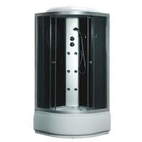 Гидробокс Fabio TMS-885/40, профиль сатин, стекло серое, заднее стекло черное, 90x90x215 см