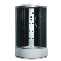 Гидробокс Fabio TMS-885/40, профиль сатин, стекло серое, заднее стекло черное, 100x100x215 см