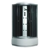 Гидробокс Fabio TMS-885/40 c электроникой, профиль сатин, стекло серое, заднее стекло черное, 90x90x215 см