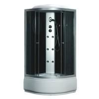 Гидробокс Fabio TMS-885/40 c электроникой, профиль сатин, стекло серое, заднее стекло черное, 100x100x215 см
