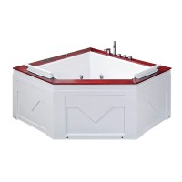 Гидромассажная ванна IRIS TLP-667, угловая, 150х150х70 см, с деревянной накладкой