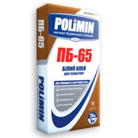 Клей шпаклевка Полимин ПБ-65 WHITE (Белый) для газобетона и пеноблока, 25 кг