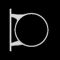 Крепление для муфты и слива, ПВХ, крепл. на 2 шурупа (D=110 мм), HUNTER Макси (Великобритания)