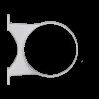 Крепление трубы ПВХ, крепл. на 2 шурупа (D=110 мм), HUNTER Макси (Великобритания)
