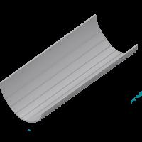 Желоб водосточный (200 мм) L=4м, HUNTER Шторм (Великобритания)