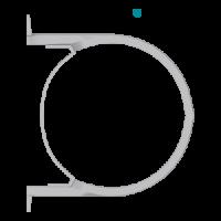Крепление для муфты и слива, стальная (160 мм), HUNTER Шторм (Великобритания)